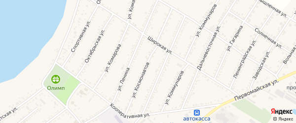 Улица Космонавтов на карте Красногвардейского села Адыгеи с номерами домов