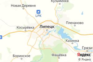 Карта г. Липецк Липецкая область