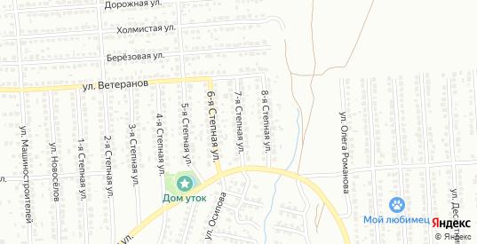 Степная 7-я улица в Лисках с номерами домов на карте. Спутник и схема онлайн