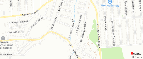 Ульянова 1-й переулок на карте Лисок с номерами домов