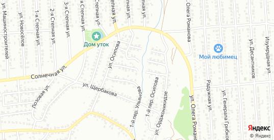 Осипова 1-й переулок в Лисках с номерами домов на карте. Спутник и схема онлайн