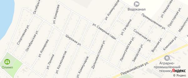 Улица Коммунаров на карте Красногвардейского села Адыгеи с номерами домов