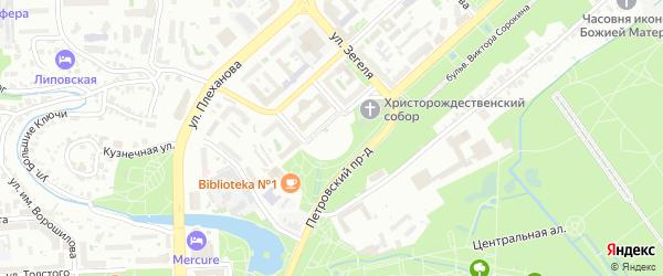 Территория гк Вертикаль на карте Липецка с номерами домов