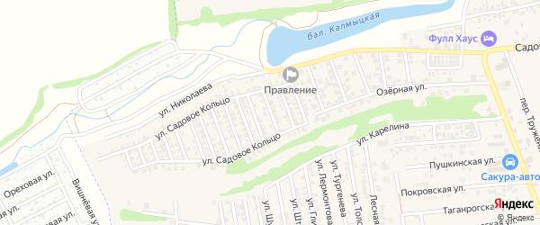 Донская улица на карте хутора Ленинавана Ростовской области с номерами домов