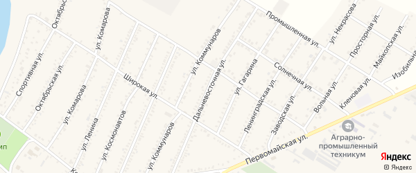 Дальневосточная улица на карте Красногвардейского села Адыгеи с номерами домов