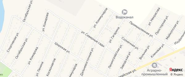 Улица Северные сады на карте Красногвардейского села Адыгеи с номерами домов