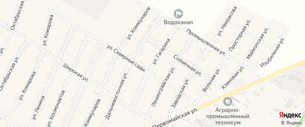 Улица Гагарина на карте Красногвардейского села Адыгеи с номерами домов