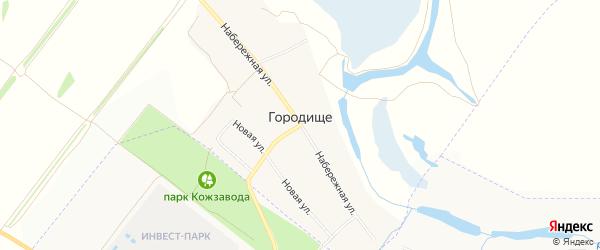 Карта села Городища в Рязанской области с улицами и номерами домов