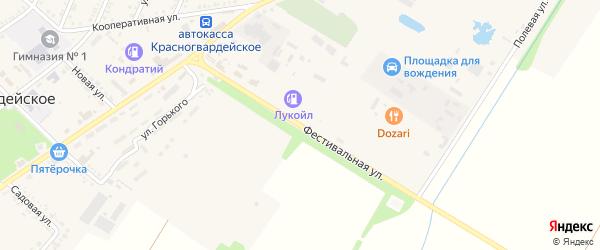Фестивальная улица на карте Красногвардейского села Адыгеи с номерами домов