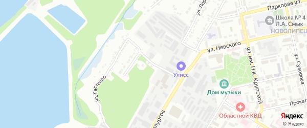 Улица Солидарности на карте Липецка с номерами домов