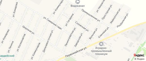 Ленинградская улица на карте Красногвардейского села с номерами домов