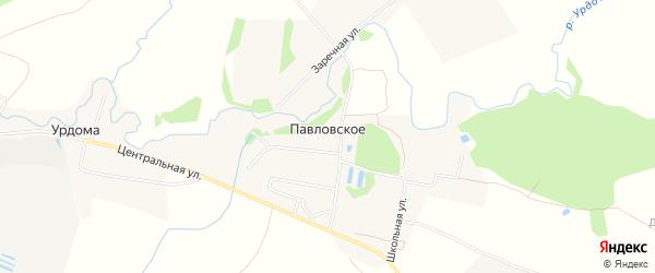Карта деревни Павловское (Борисоглебский с/с) в Ярославская области с улицами и номерами домов