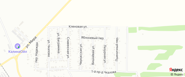 Яблоневый переулок на карте Россоши с номерами домов