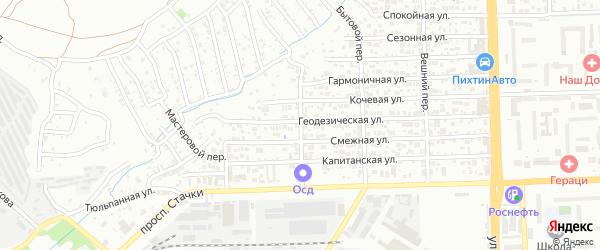 Фонарный переулок на карте Ростова-на-Дону с номерами домов