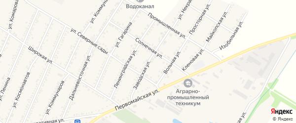 Заводская улица на карте Красногвардейского села с номерами домов