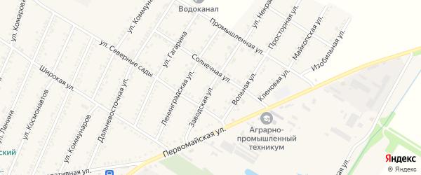 Заводская улица на карте Красногвардейского села Адыгеи с номерами домов