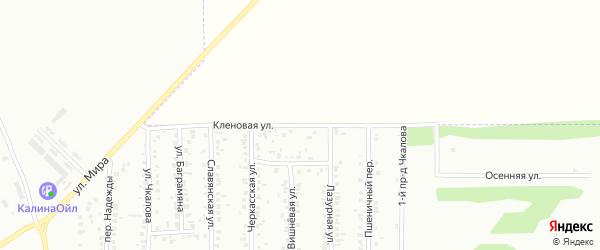 Кленовая улица на карте Россоши с номерами домов