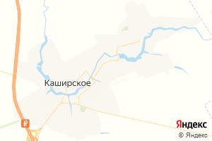Карта с. Каширское Воронежская область