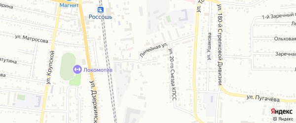 Переулок 9 Мая на карте Россоши с номерами домов