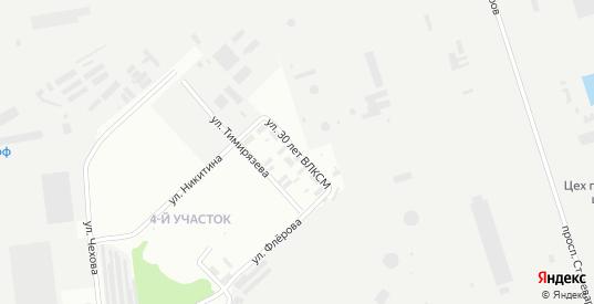 Улица 30 лет ВЛКСМ в Липецке с номерами домов на карте. Спутник и схема онлайн