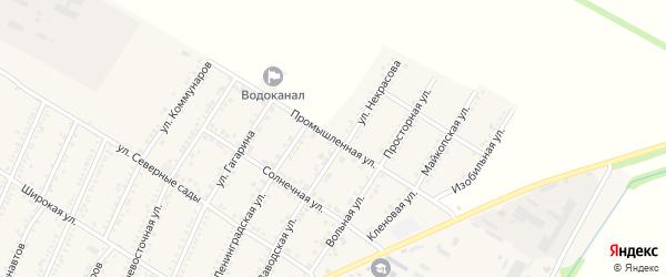 Промышленная улица на карте Красногвардейского села Адыгеи с номерами домов