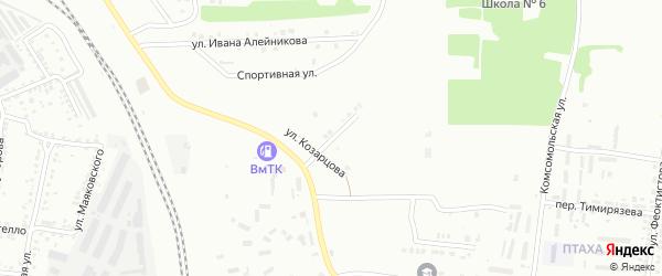 Зеркальный переулок на карте Россоши с номерами домов