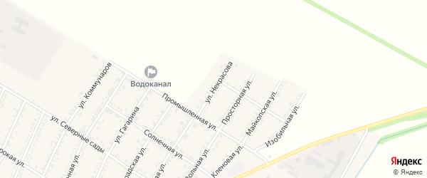 Улица Некрасова на карте Красногвардейского села Адыгеи с номерами домов