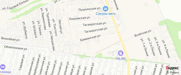 Ереванская улица на карте хутора Ленинавана Ростовской области с номерами домов