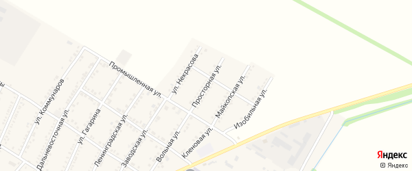 Просторная улица на карте Красногвардейского села Адыгеи с номерами домов