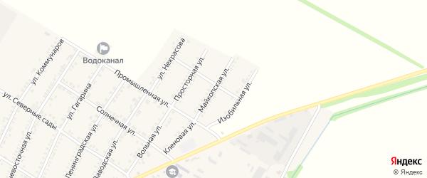 Майкопская улица на карте Красногвардейского села Адыгеи с номерами домов