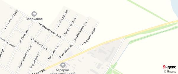 Изобильная улица на карте Красногвардейского села с номерами домов