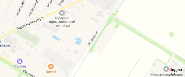 Полевая улица на карте Красногвардейского села Адыгеи с номерами домов