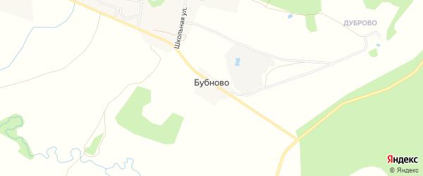 Карта деревни Бубново в Ярославская области с улицами и номерами домов