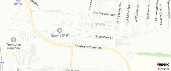Заводская улица на карте Россоши с номерами домов