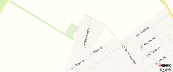 Улица Шовгенова на карте Преображенского села Адыгеи с номерами домов