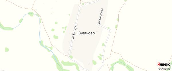 Верхняя улица на карте деревни Кулаково Рязанской области с номерами домов