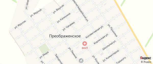 Улица Мира на карте Преображенского села Адыгеи с номерами домов