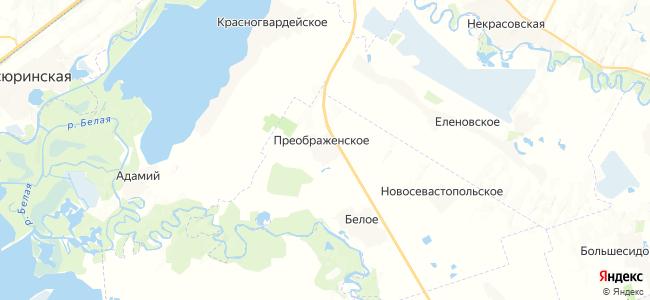 Преображенское на карте