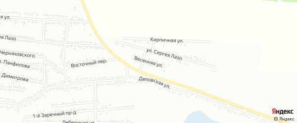 Весенняя улица на карте Россоши с номерами домов