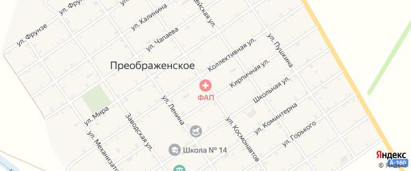 Улица Космонавтов на карте Преображенского села Адыгеи с номерами домов