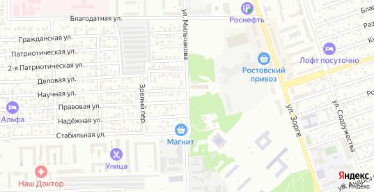 Улица Мильчакова в Ростове-на-Дону с номерами домов на карте. Спутник и схема онлайн