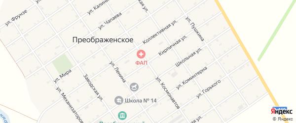 Кирпичная улица на карте Преображенского села Адыгеи с номерами домов
