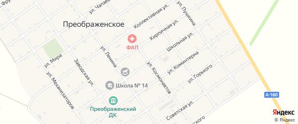 Школьная улица на карте Преображенского села Адыгеи с номерами домов