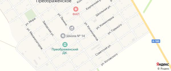 Улица Коминтерна на карте Преображенского села Адыгеи с номерами домов