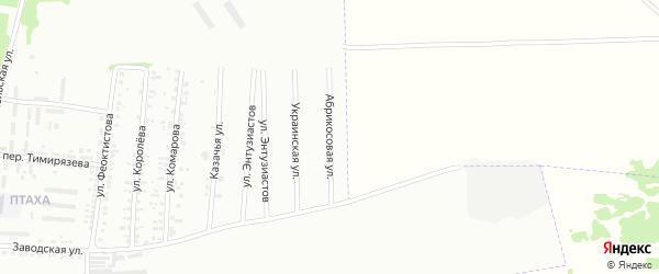 Абрикосовая улица на карте Россоши с номерами домов