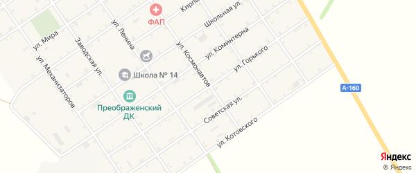 Улица Горького на карте Преображенского села Адыгеи с номерами домов