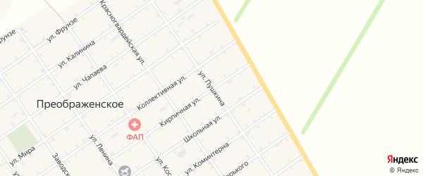Улица Пушкина на карте Преображенского села Адыгеи с номерами домов