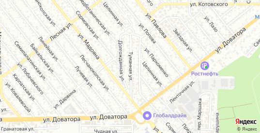 Туманная улица в Ростове-на-Дону с номерами домов на карте. Спутник и схема онлайн