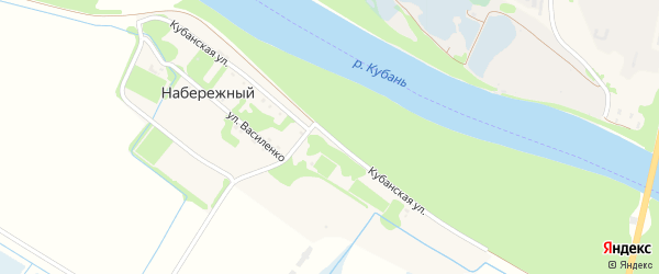 Кубанская улица на карте Набережного поселка с номерами домов