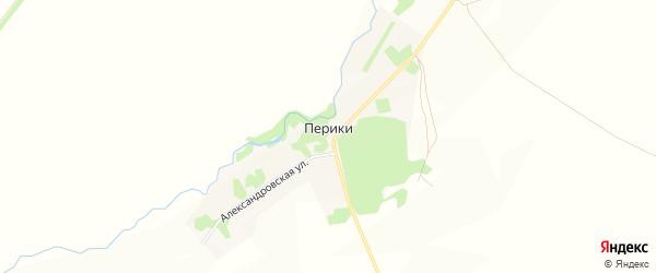 Карта деревни Периков в Рязанской области с улицами и номерами домов